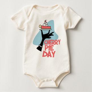 20th February - Cherry Pie Day - Appreciation Day Baby Bodysuit