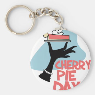 20th February - Cherry Pie Day - Appreciation Day Key Ring