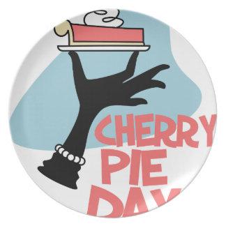 20th February - Cherry Pie Day - Appreciation Day Plate