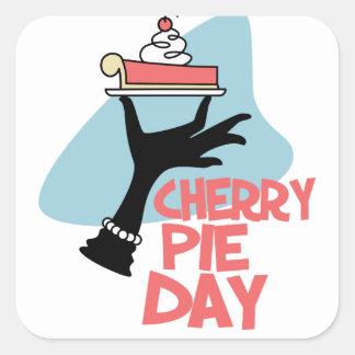 20th February - Cherry Pie Day - Appreciation Day Square Sticker