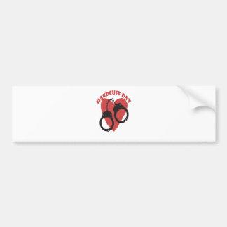 20th February - Handcuff Day - Appreciation Day Bumper Sticker