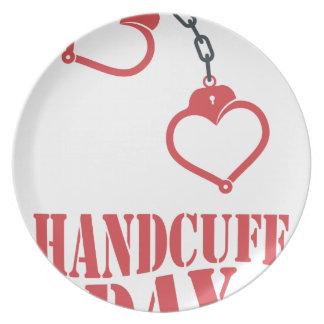 20th February - Handcuff Day Plate