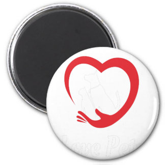 20th February - Love Your Pet Day 6 Cm Round Magnet