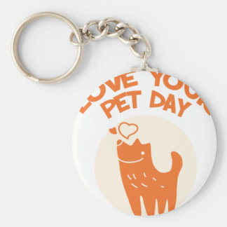 20th February - Love Your Pet Day Key Ring