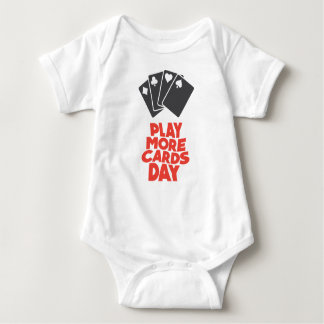 20th February - Play More Cards Day Baby Bodysuit