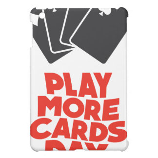20th February - Play More Cards Day Cover For The iPad Mini