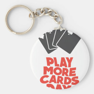 20th February - Play More Cards Day Key Ring
