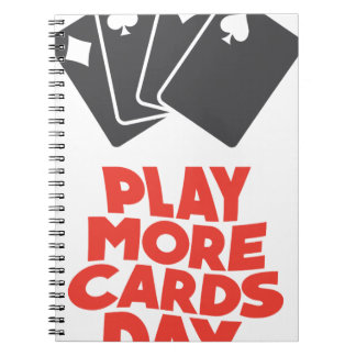 20th February - Play More Cards Day Notebooks