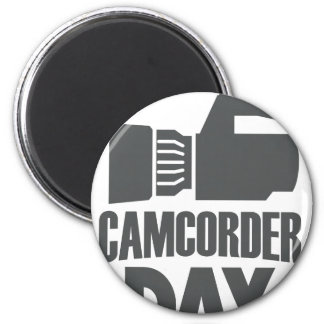 20th January - Camcorder Day 6 Cm Round Magnet