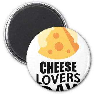 20th January - Cheese Lovers Day 6 Cm Round Magnet