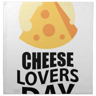 20th January - Cheese Lovers Day Napkin