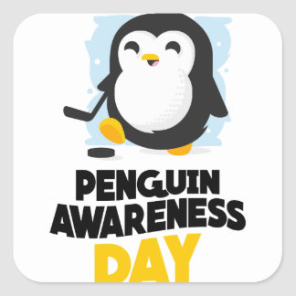 20th January - Penguin Awareness Day Square Sticker