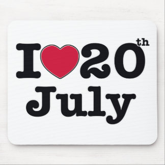 20th july my day of birthday mousepads
