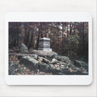 20th Maine Memorial on Little Round Top Gettysburg Mouse Pad