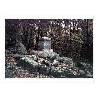20th Maine Memorial on Little Round Top Gettysburg Postcard