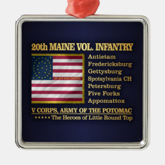 20th Maine Volunteer Infantry (BH) Silver-Colored Square Decoration
