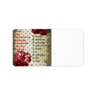 20th Quote; Seasons Greetings Address Label