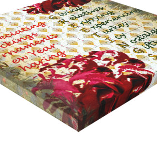 20th Quote; Seasons Greetings Canvas Print