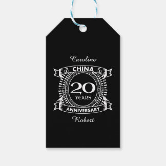 20TH wedding anniversary china Gift Tags