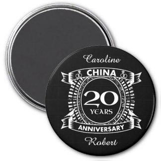 20TH wedding anniversary china Magnet