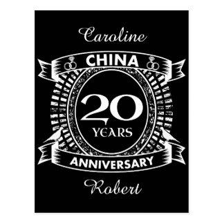 20TH wedding anniversary china Postcard
