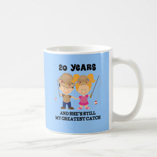 20th Wedding Anniversary Gift For Him Classic White Coffee Mug
