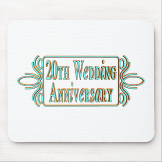 20th wedding anniversary gifts at mouse pad