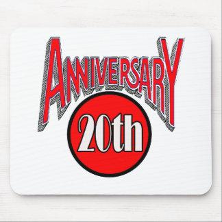20th Wedding Anniversary Mousepad