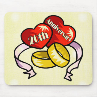 20th Wedding Anniversary Mouse Pad