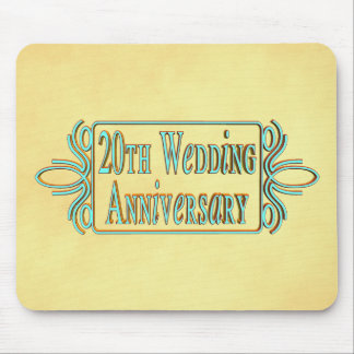 20th Wedding Anniversary Mousepad