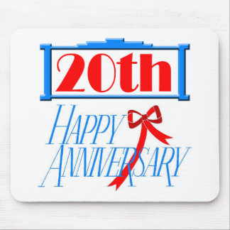 20th Wedding Anniversary Mousepads