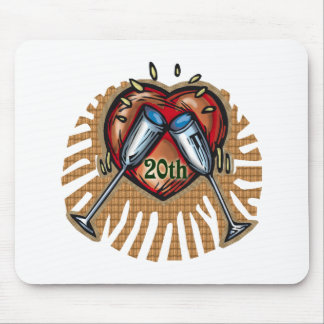 20th wedding anniversary t mouse mat