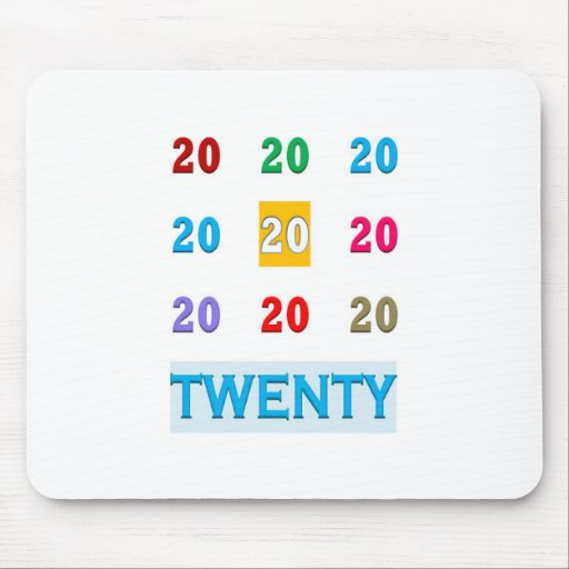 20TH XX TWENTIETH Birthday Anniversary GIFTS ALL Mouse Pads
