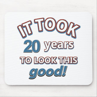 20th year birthday designs mouse pad