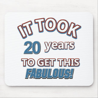 20th year birthday designs mouse pads