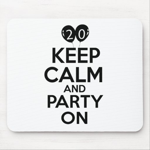 20th year birthday designs mousepads
