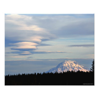 20X16 Mount Rainier with Lenticular Clouds Photo Print