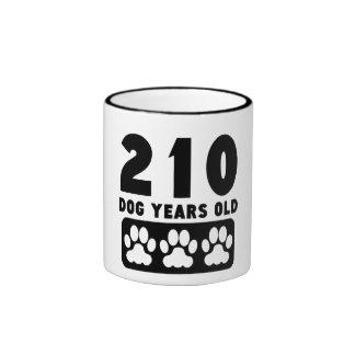 210 Dog Years Old Ringer Mug