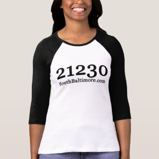 21230 SouthBaltimore.com Georgia Font T-Shirt