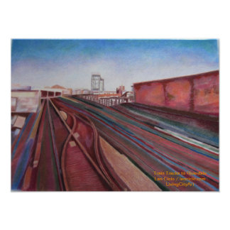 215th St Train Tracks to Riverdale Poster