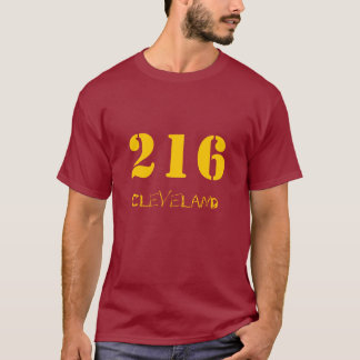 216 Wine and Gold T-Shirt