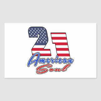 21 American Soul Birthday Designs Rectangular Sticker