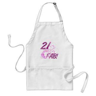 21 And Fabulous Birthday Standard Apron