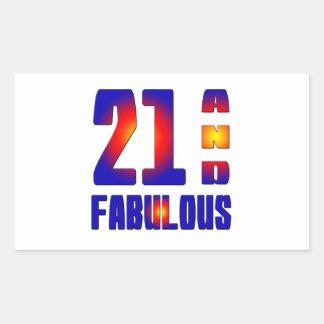 21 And Fabulous Sticker