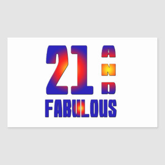 21 And Fabulous Rectangle Stickers