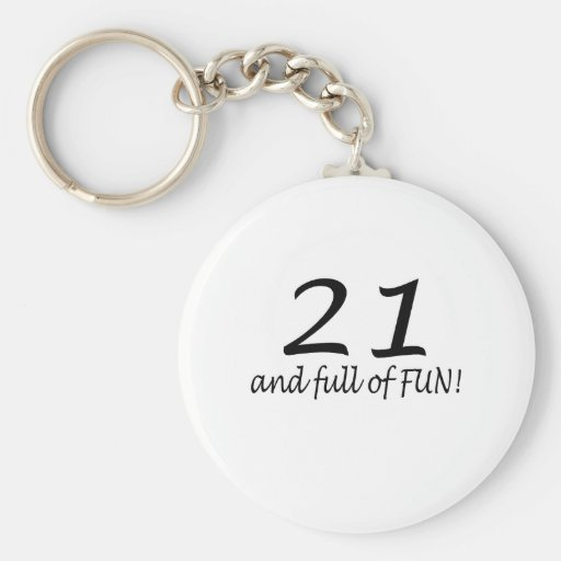 21 And Full Of Fun Keychains