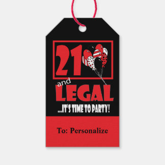21 and Legal Gift Tags
