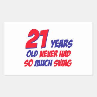 21 birthday design stickers