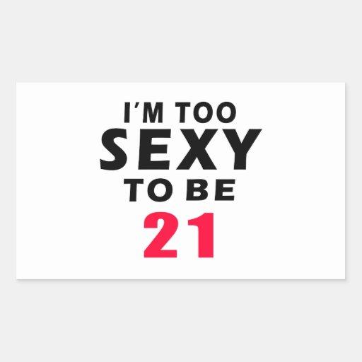 21 birthday designs rectangular stickers