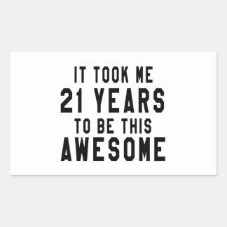 21 birthday designs stickers